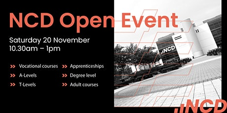 NCD Open Event tickets