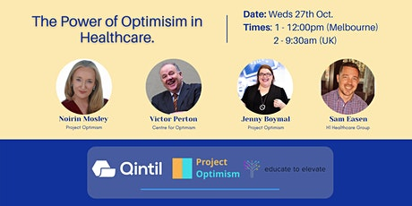 The power of optimism in healthcare. tickets