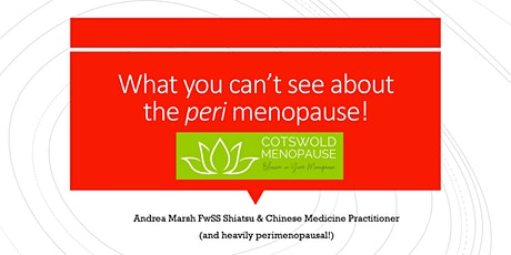 What you can't see about the perimenopause! Free webinar tickets