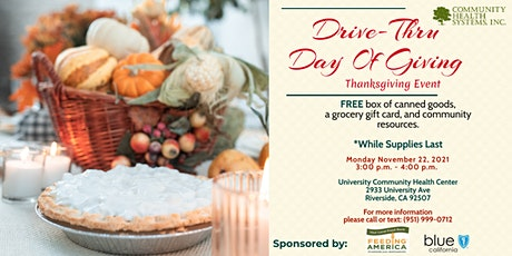 Drive-Thru Day of Giving Thanksgiving Event tickets