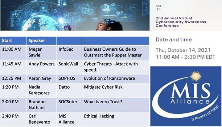 2nd Annual Virtual Cybersecurity Awareness Conference image
