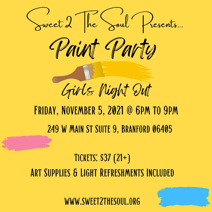 Sweet 2 The Soul Presents... Girls Night Out Paint Party image