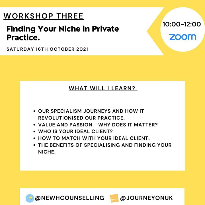 Finding your Niche in Private Practice - Workshop 3 image