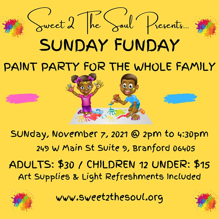 Sweet 2 The Soul Presents... Sunday Funday Paint Party image