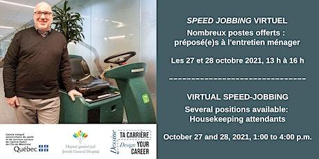 Recrutement entretien ménager / Housekeeping recruitment tickets