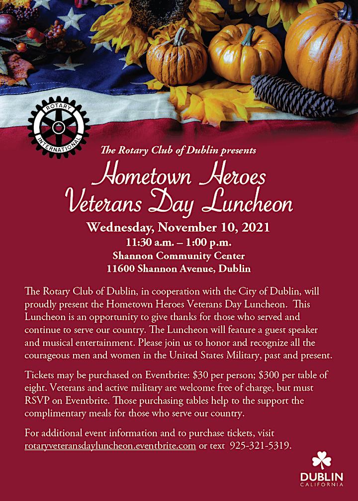 Hometown Heroes Veteran's Day Luncheon image