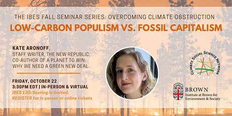 Low-Carbon Populism vs. Fossil Capitalism tickets