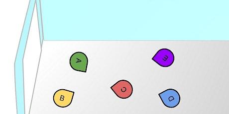 Virtuelle Räume für Online-Aufstellungen auf Google Slides Tickets