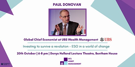 UCL Asset Management Society - Paul Donovan on the Rise of ESG Investing tickets