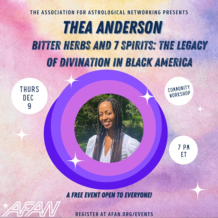 AFAN Presents Thea Anderson: Bitter Herbs & 7 Spirits image