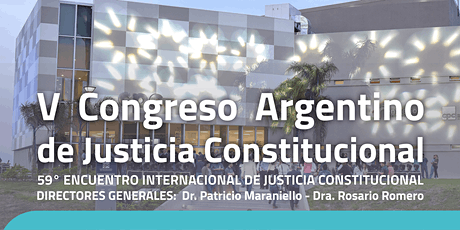 5to Congreso Argentino de Justicia Constitucional entradas