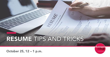 Resume Tips and Tricks for International Students tickets