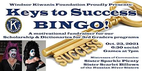 Kiwanis Club Keys to Success Bingo  benefit for scholarships and programs tickets