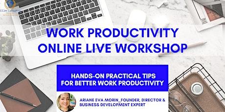 Work Productivity Workshop tickets