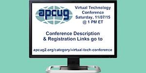 APCUG's 2015 Fall Virtual Technology Conference