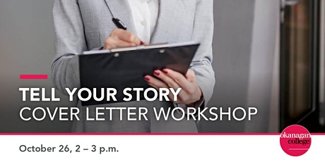 Tell your story - Cover letter workshop tickets