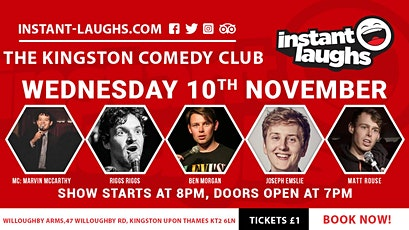 Stand up comedy in Kingston tickets