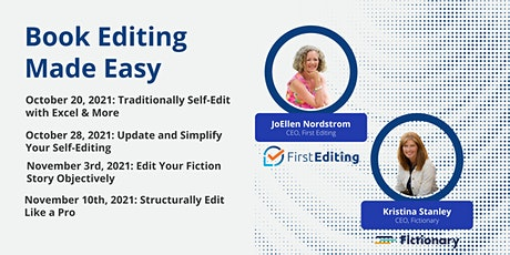 Book Editing Made Easy - Structural Editing Workshops forFiction Writers tickets