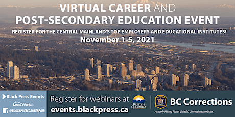 Central Mainland Virtual Career & Post-Secondary Education Event tickets
