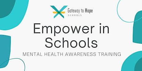 Mental Health Awareness Training for Educators tickets