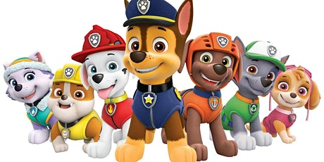 Halloween pizza party with Paw Patrol tickets