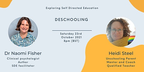 Deschooling as the gateway to successful Self Directed Learning tickets