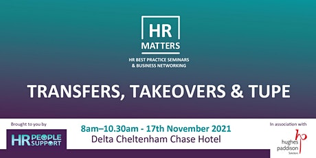 HR Matters - Transfers, Takeovers and TUPE tickets