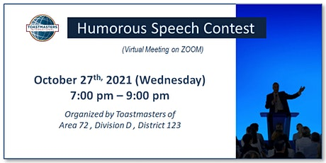 Humorous Speech Contest (Area 72, Division D, District 123) tickets