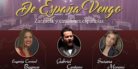 """""""De España Vengo"""" - Cena-show Lírico entradas"""