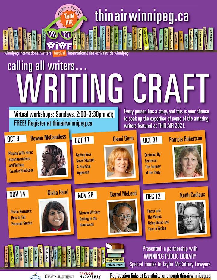THIN AIR 2021 Writing Craft : Patricia Robertson image