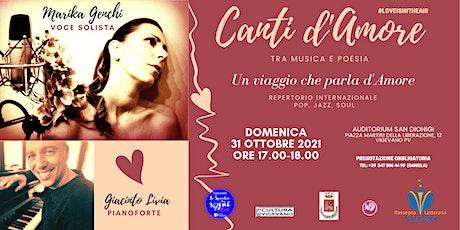 Concerto CANTI d'AMORE Tra Musica e Poesia  Un Viaggio che parla d'Amore biglietti