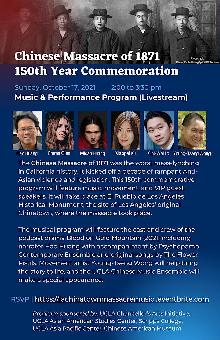 Chinese Massacre of 1871: Music & Performance Program image