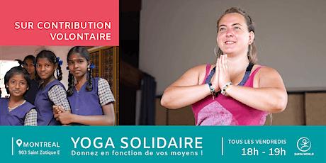 Yoga solidaire : cours de yoga sur contribution volontaire tickets