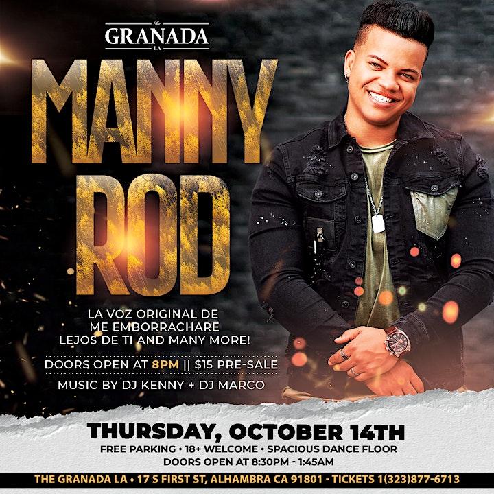 Manny Rod Bachata Concert. Thursday, October 14th at The Granada LA image