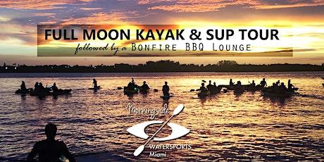 October 22nd  MOONLIGHT TOUR KAYAK & SUP Tour with BONFIRE tickets