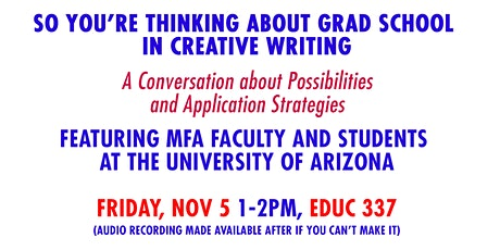 So You're Thinking about Graduate School in Creative Writing: 2021 Edition tickets