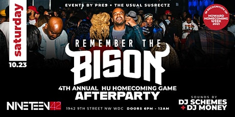Remember The Bison: 4th Annual HU Homecoming Game After Party tickets