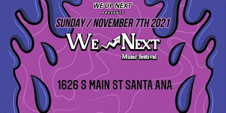 WE UP NEXT MUSIC FEST tickets