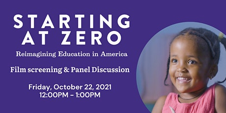 Starting At Zero - Film Screening and Panel Discussion tickets