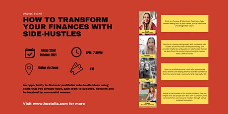 Transform Your Finances & Maximise Your Earning Potential With Side-Hustles tickets