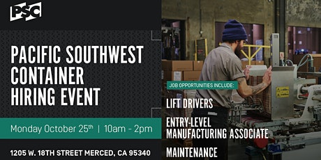 Pacific Southwest Container Hiring Event tickets