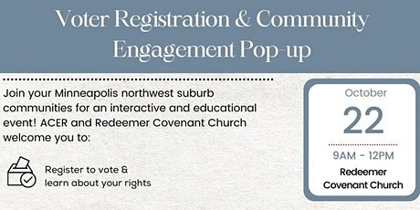 Voter Registration and Community Engagement Pop-up tickets