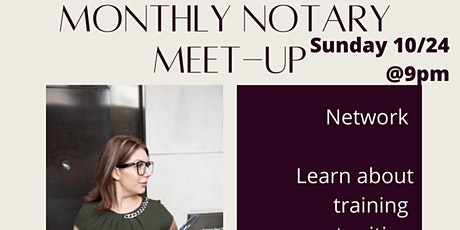 October Monthly Notary Meet Up tickets