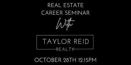 LUBBOCK - TAYLOR REID REAL ESTATE CAREER LUNCH tickets