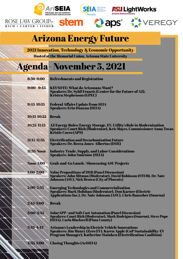 2021 Arizona Energy Future Conference image