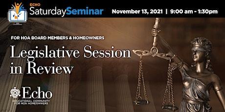 2021 Legislative Sessionin Review tickets