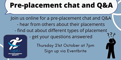 Pre-Placement Chat and Q&A tickets