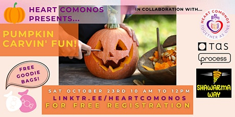 Heart Comonos Presents: Pumpkin Carvin' Fun! tickets