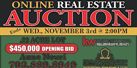 Arlington Real Estate Online Auction tickets