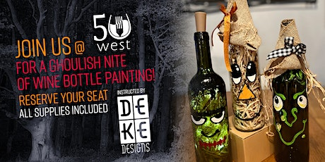 Creepy Character Wine Bottle Paint Party with DeKe Designs tickets